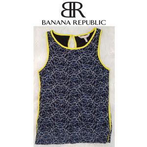 Banana Republic Blue Sleeveless Shirt